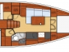 oceanis 38 - 2C 1T cuisine en long - side galley 2